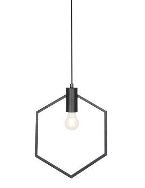 Suspension avec cadre Hexagone Aina Light & Living noir-2863ZW