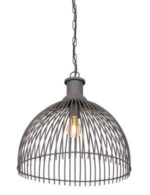 Suspension métallique demis phère Maronka Light & Living gris-2864GR