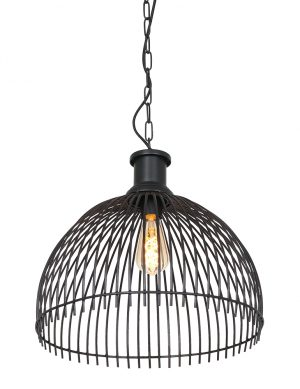Suspension métallique demi sphère Maronka Light & Living noir-2865ZW