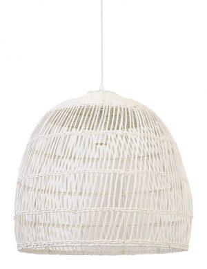 Suspension en rotin Evelie Light & Living blanc-2866W