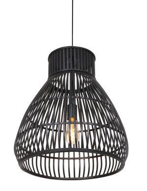 Suspension en rotin en forme d'entonnoir Timaka Light & Living noir-2869ZW