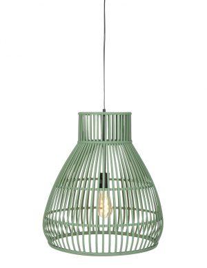Suspension en rotin en forme d'entonnoir Timaka Light & Living vert-2870G