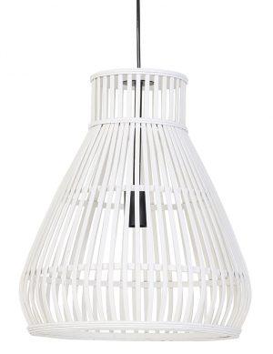 Suspension en rotin en forme d'entonnoir Timaka Light & Living blanc-2871W