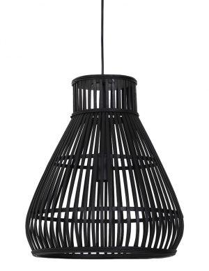 Suspension avec fil de bois Timaka Light & Living noir-2872ZW