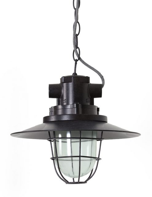 Lampe style industriel Caily Light & Living noir-2874ZW