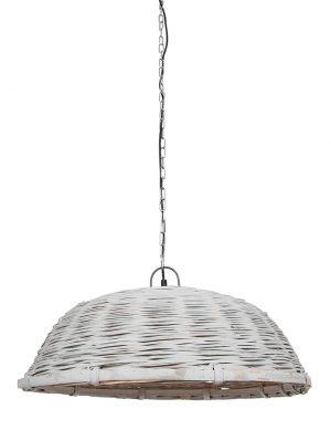 Lampe suspendue panier en osier Jaelynn Light & Living gris-2876W