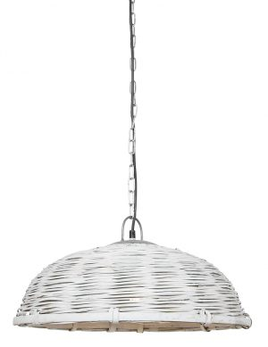 Lampe suspendue panier en osier Jaelynn Light & Living blanc-2877W