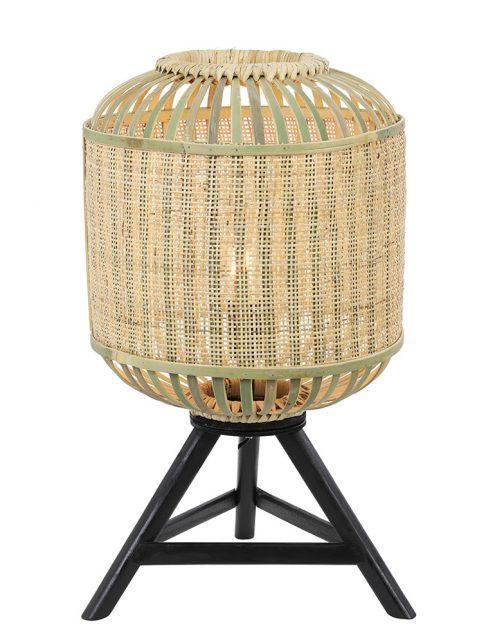 Lampe à trépied en toile Alifia Light & Living couleur osier-2895BE