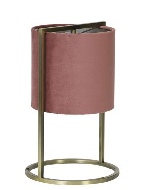 Lampe à poser avec abat-jour Light & Living rose-2897RZ