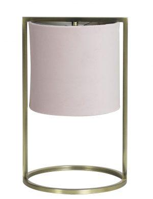 Lampe à poser avec abat-jour Light & Living rose pâle-2899RZ