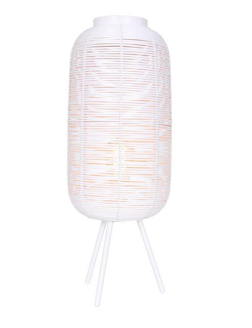 Lampe à poser rotin en métal Tomek Light & Living blanc-2907W