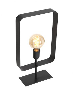 Lampe à poser rectangulaire Yalu Light & Living noir-2914ZW