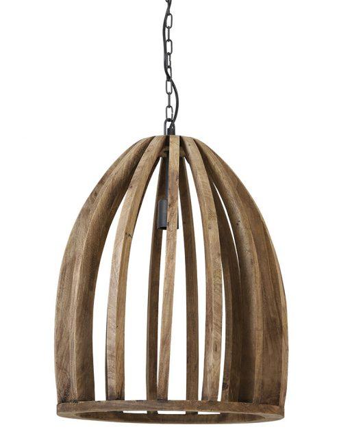 Suspension cage en bois Wood Light & Living bois-2941BE