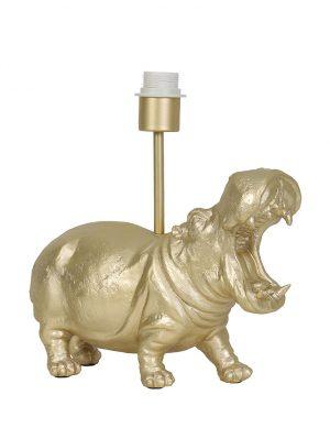 Pied de lampe hippopotame Hippo Light & Living couleur or-2967GO
