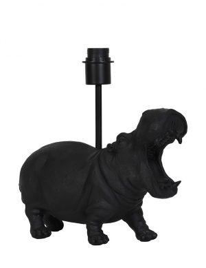 Pied de lampe hippopotame Hippo Light & Living noir-2973ZW