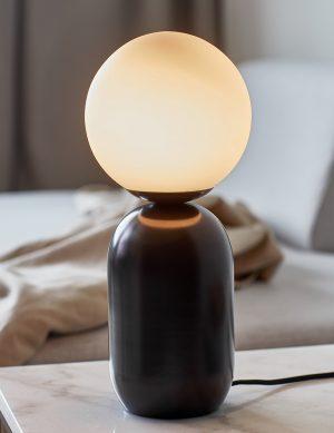 Lampe à poser avec pied en métal et sphère Notti Nrodlux noir-3020B