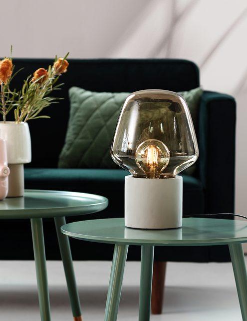 Lampe à poser en verre fumé Christina Nordlux gris-3022GR