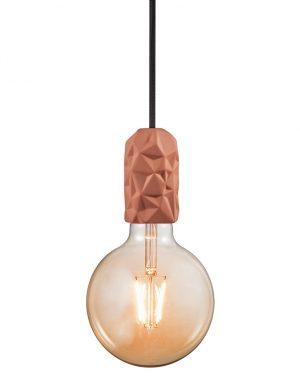 Suspension ampoule unique et en terre cuiteHang Nordlux rose-3028B