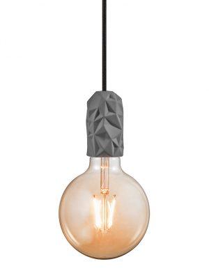 Suspension ampoule unique et en terre cuiteHang Nordlux gris-3028GR