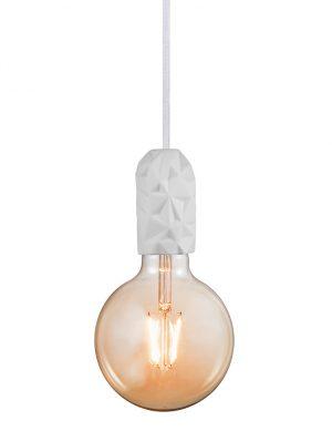 Suspension ampoule unique et en terre cuite Hang Nordlux blanc-3028W
