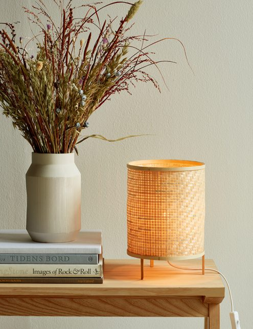Lampe à poser en bambou tressé Trinidad Nordlux beige-3030B