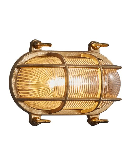 Lampe d'extérieur imitation lampe de bateau Helford Nordlux couleur or-3046ME