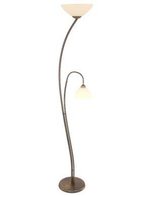 Lampadaire classique élégant en bronze et en verre-6838BR