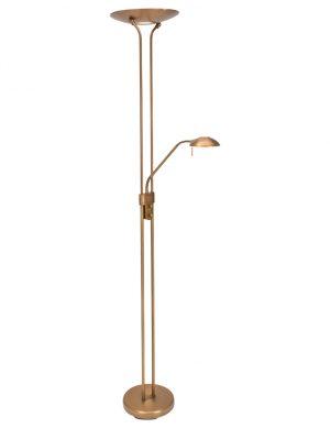 Lampadaire à LED avec bras de lecture Mexlite Jens couleur bronze-7500BR