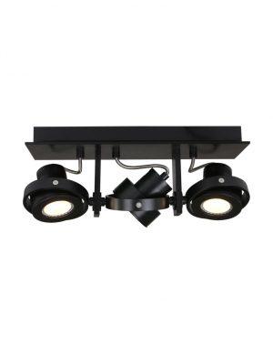 Trois projecteurs noirs montés en surface Steinhauer West-7551ZW