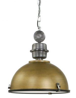 Suspension style industriel dorée Steinhauer Bikkel 42 cm-7586GO