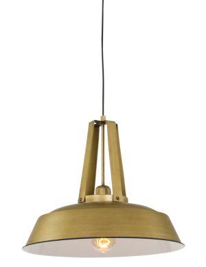 Suspension de style industrielle dorée Mexlite Luna-7704GO