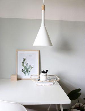 Lampe à suspension scandinave Steinhauer Cornucopia couleur blanche Ø25 cm-7806W