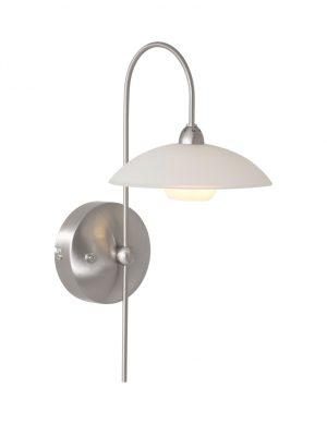 Applique avec abat-jour en verre Steinhauer Monarch LED acier-7926ST