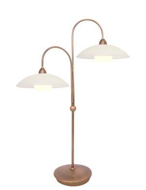 Lampe de table avec abat-jour en verre Steinhauer Monarch bronze-7927BR