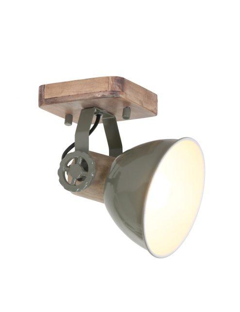 Plafonnier en bois Mexlite Gearwood vert-7968G