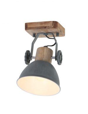 Plafonnier en bois Mexlite Gearwood gris-7968GR