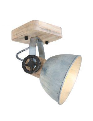 Spot en bois Mexlite Gearwood nickel-7968NI