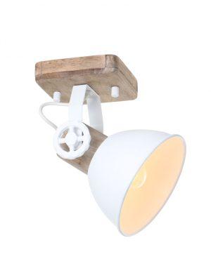 Plafonnier scandinave Mexlite Gearwood blanc-7968W