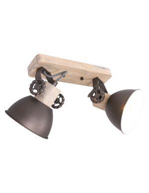 Spot industriel double en acier Mexlite Gearwood-7969A