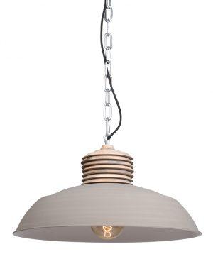 Lampe à suspension en bois Mexlite Samso taupe-7974CR