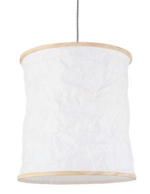 Suspension romantique en bois Mexlite Finn blanc-7992W