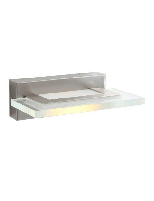 Applique rectangulaire LED en verre Steinhauer Plato acier-7994ST
