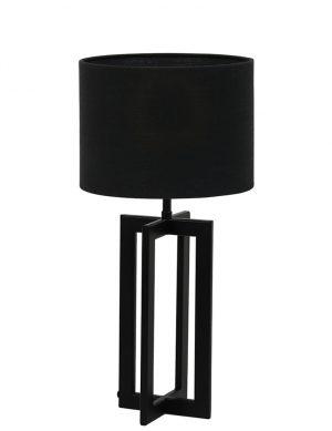 Lampe avec abat-jour et pied en rectangle Mace Light & Living noir-9366ZW