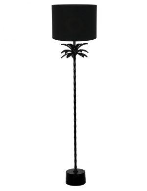 Lampadaire palmier avec abat-jour Armata Light & Living noir-9383ZW