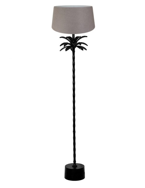 Lampadaire palmier avec petit abat-jour Armata Light & Living noir et brun-9385ZW