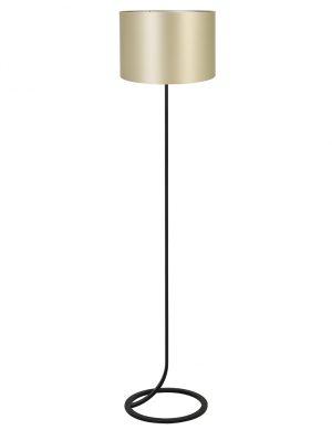 Lampadaire avec pied en lasso et abat-jour Mavey Light & Living noir et or-9387ZW