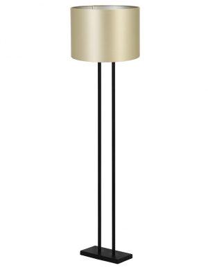 Lampadaire à double pied avec abat-jour Shiva Light & Living noir et or-9393ZW