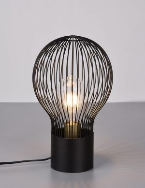 Lampe de table Wire Lamp Reality Dave noir