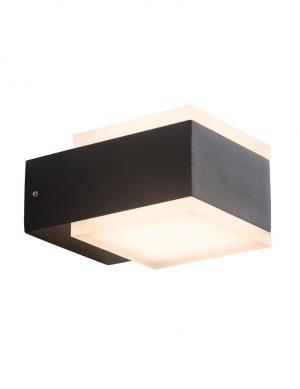 Applique à deux lumières en forme de cube Cebu Steinhauer noir
