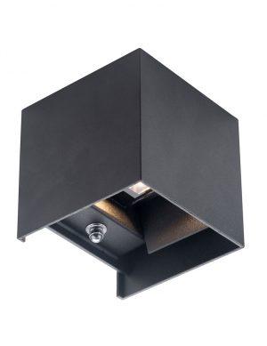 Lampe d'extérieur carrée avec capteur de lumière Cebu Steinhauer noir